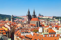 Prague, Czech Republic. Panorama of the Old Town in Prague (Czech Republic Stock Images
