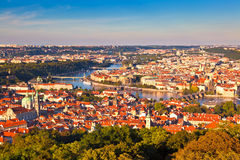 Prague, Czech Republic. Beautiful panorama of the Czech capital city Prague Royalty Free Stock Photo