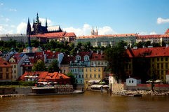 Prague, Czech Republic. View from the charles bridge royalty free stock image