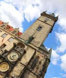 Prague Astronomical Clock The inclination of the monument is int. Prague in the Czech Republic Ancient Astronomical Clock The inclination of the monument is Stock Photo