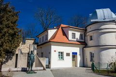 The Štefánik Observatory located in Petřín park opened on 1928 royalty free stock images