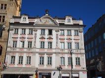 Prague, Czech Republic - April 21, 2015: Facade of the Hotel Inn Stock Photos