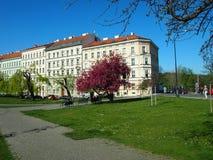 Prague, Czech Republic - April 21, 2015: Karlovo namesti Royalty Free Stock Photos
