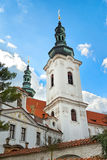 PRAGUE, CZECH REPUBLIC - APRIL 13: Strahov Monastery, Prague, C. One from attractions in Prague Strahov Monastery, Basilica of the Assumption of the Virgin Mary Stock Photo