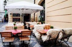 PRAGUE, CZECH REPUBLIC - April 9, 2015 : Tourists on foot Street Royalty Free Stock Images