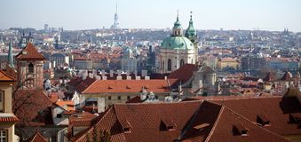 Roof Tops of Prague, Czech Republic Stock Images