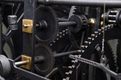 Prague, Czech republic, astrnonomical clock Orloj inside mechanism Stock Photography
