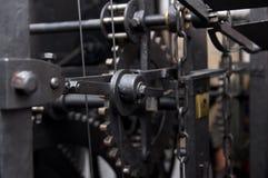 Prague, Czech republic, astrnonomical clock Orloj inside mechanism Stock Image
