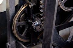 Prague, Czech republic, astrnonomical clock Orloj inside mechanism Stock Photos