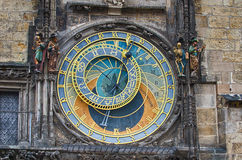 The Prague (Czech Republic) astronomical clock Royalty Free Stock Photos