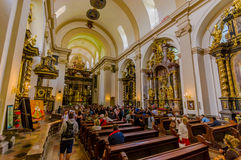 Prague, Czech Republic - 13 August, 2015: Castle Cathedral as seen from inside, revealing amazing architectural design Stock Photography