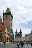 PRAGUE, CZECH REPUBLIC - AUGUST 28, 2011: Clock Tower and the ce Stock Image