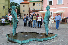 PRAGUE, CZECH REPUBLIC - AUGUST 28, 2011: Fountain in the form o Stock Images