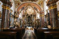 Inside of Loreta church in Prague, Czech Republic