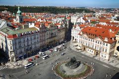 PRAGUE, CZECH REPUBLIC - AUGUST 24, 2016: Panoramic view of Old Royalty Free Stock Photo