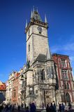 PRAGUE, CZECH REPUBLIC - AUGUST 23, 2016: People walking and loo Royalty Free Stock Photo