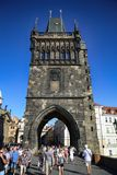 PRAGUE, CZECH REPUBLIC - AUGUST 24, 2016: People walking and loo Royalty Free Stock Photography