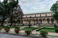 Palace in the Royal Garden of Prague Castle stock photos
