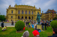 Prague, Czech Republic - 13 August, 2015: Rudolfinum music auditorium as seen from front Royalty Free Stock Image