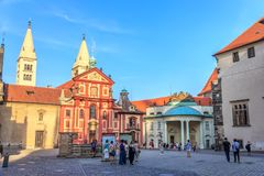 Prague, Czech Republic - 16 August, 2018: St. George`s Basilica stock photography