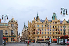 PRAGUE, CZECH REPUBLIC - AUGUST 28, 2011: View of the old town i. N Prague (Czech Republic, Europe Royalty Free Stock Photo