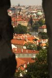 Prague, czech republic from castle wall Stock Images