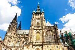 Prague, Czech Republic. Cathedral of St. Vitus, Wenceslas and Vojtech in Prague Castle, Czech Republic Stock Photo