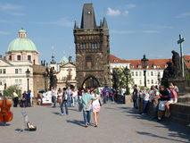 Prague, Czech Republic. Charles Bridge (2) Stock Photo