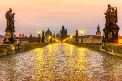 Prague, Czech Republic. Prague, Charles Bridge and Old Townl. Czech Republic Royalty Free Stock Photography