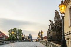 Prague, Czech Republic: Charles or Karluv Bridge Stock Images