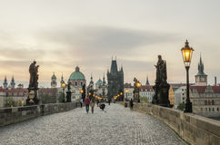 Prague, Czech Republic: Charles or Karluv Bridge Royalty Free Stock Photography