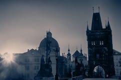 Prague, Czech Republic: Charles or Karluv Bridge Stock Photos