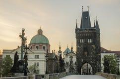 Prague, Czech Republic: Charles or Karluv Bridge Stock Photo