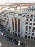 Czech National bank in Prague. PRAGUE, CZECH REPUBLIC - CIRCA DECEMBER 2017: Ceska narodni banka meaning Czech National bank Stock Photo