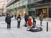 Street musicians in Prague Stock Photography