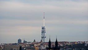 PRAGUE, CZECH REPUBLIC - DECEMBER 10, 2014: Aerial stock video