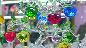 PRAGUE, CZECH REPUBLIC - DECEMBER 3, 2016. Close-up of famous Bohemian glass or Bohemia crystal piece of art. PRAGUE, CZECH REPUBLIC - DECEMBER 3, 2016. Closeup stock photography