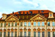Prague, Czech Republic - December 31, 2017: Narodni galerie. View from old town, Prague, Bohemia Czech Republic on December 31 2017 Stock Photos