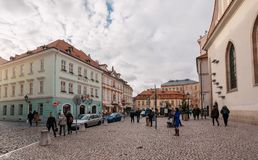 Christmas at bethlem Square in Prague royalty free stock image