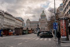 Saint Wenceslaus statue on Vaclavske Namesti in Prague, Czech Republic royalty free stock photos