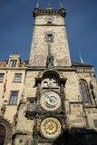 PRAGUE, CZECH REPUBLIC/EUROPE - SEPTEMBER 24 : Astronomical cloc. K at the Old Town City Hall in Prague on September 24, 2014 Royalty Free Stock Image