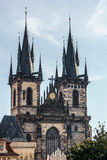 PRAGUE, CZECH REPUBLIC/EUROPE - SEPTEMBER 24 : Church of Our Lad. Y Before Tyn in Prague on September 24, 2014 Royalty Free Stock Photo