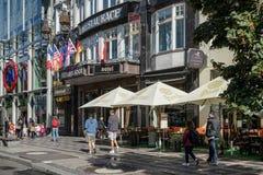 PRAGUE, CZECH REPUBLIC/EUROPE - SEPTEMBER 24 : Hotel Ambassador Royalty Free Stock Images