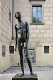 PRAGUE, CZECH REPUBLIC/EUROPE - SEPTEMBER 24 : Naked Boy Statue. At Prague Castle in Prague on September 24, 2014 Stock Images