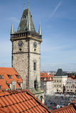 PRAGUE, CZECH REPUBLIC/EUROPE - SEPTEMBER 24 : Old City Hall Tow Royalty Free Stock Photography