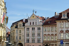 PRAGUE, CZECH REPUBLIC/EUROPE - SEPTEMBER 24 : Ornate apartment. Blocks in the Old Town Square in Prague on September 24, 2014 Stock Image