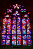 PRAGUE, CZECH REPUBLIC/EUROPE - SEPTEMBER 24 :  Stained glass wi Stock Photo