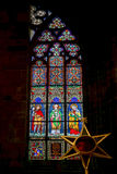 PRAGUE, CZECH REPUBLIC/EUROPE - SEPTEMBER 24 : Stained glass win Stock Image