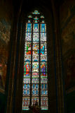 PRAGUE, CZECH REPUBLIC/EUROPE - SEPTEMBER 24 : Stained glass win Royalty Free Stock Photography