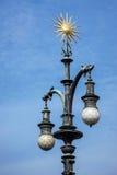 PRAGUE, CZECH REPUBLIC/EUROPE - SEPTEMBER 24 : Street light on t Stock Photo